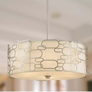 w83444mn24 Montauk 9 Light Matte Nickel Finish Pendant