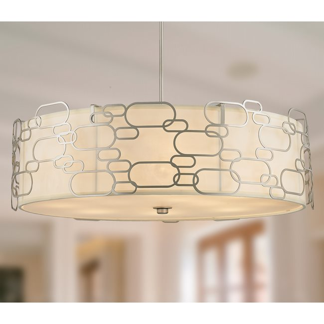 w83445mn31 Montauk 12 Light Matte Nickel Finish Pendant