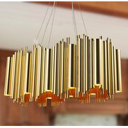 w83464cg32 Calliope 20 Light Matte Gold Chandelier