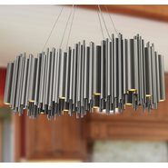 w83465mn38 Calliope 24 Light Matte Nickel Chandelier
