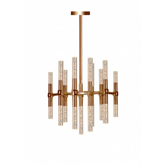 w83467mg20 Sidney 25 Light Matte Gold Finish G9 LED Chandelier