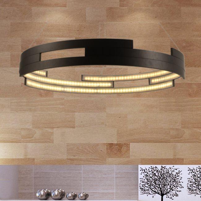 w83470mb32 Nexus Light Matte Black Finish LED Chandelier