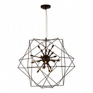 w83472mb33 Le Cage 24 Light Matte Black Finish G9 Chandelier