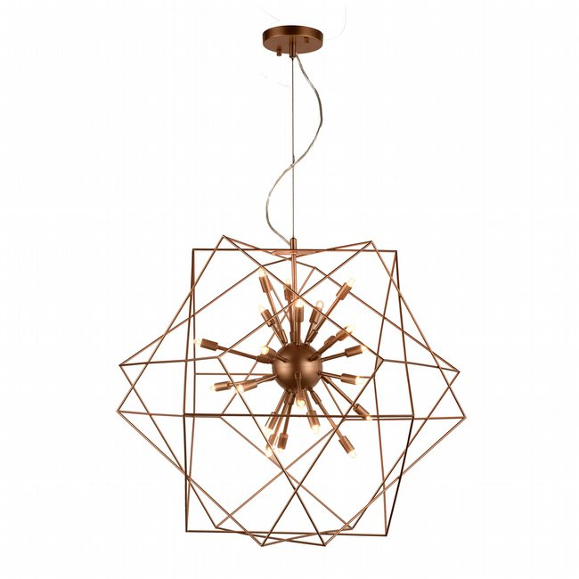 w83472mg33 Le Cage 24 Light Matte Gold Finish G9 Chandelier