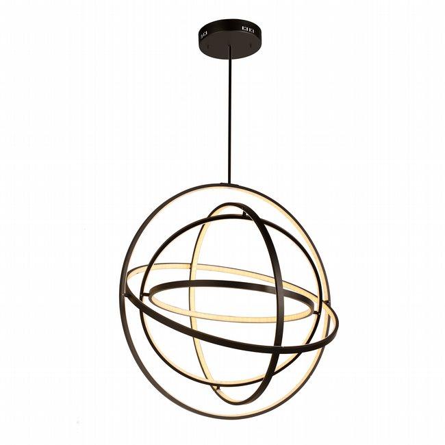 w83475mb31 Atom Light Matte Black Finish LED Chandelier