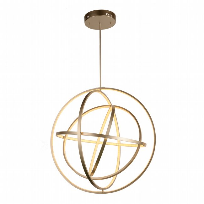 w83475mn31 Atom Light Matte Nickel Finish LED Chandelier