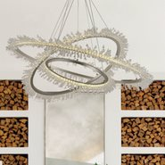 w83478mn45 Nebula Light Matte Nickel Finish LED Chandelier
