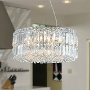 W83501C20 Cascade 12 light Chrome Finish with Clear Crystal Chandelier