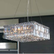 W83512C20 Cascade 12 Light Chrome Finish and Clear Crystal Chandelier