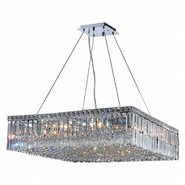 W83514C28 Cascade 12 Light Chrome Finish and Clear Crystal Chandelier