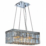 W83523C20 Cascade 4 Light Chrome Finish with Clear Crystal Chandelier
