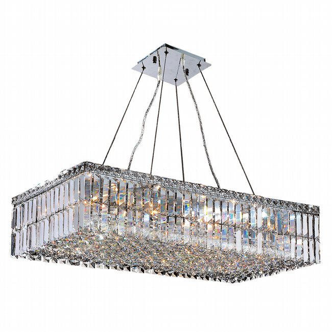 W83526c32 Cascade 16 Light Chrome Finish With Clear