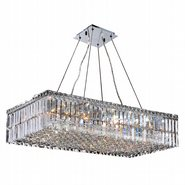 W83526C32 Cascade 16 Light Chrome Finish with Clear Crystal Chandelier