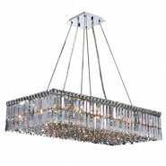 W83527C36 Cascade 16 Light Chrome Finish with Clear Crystal Chandelier