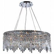 W83603C28 Cascade 12 Light Chrome Finish with Clear Crystal Chandelier