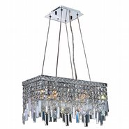 W83623C20 Cascade 4 Light Chrome Finish with Clear Crystal Chandelier