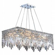 W83625C28 Cascade 16 Light Chrome Finish with Clear Crystal Chandelier