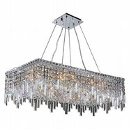 W83626C32 Cascade 16 Light Chrome Finish with Clear Crystal Chandelier