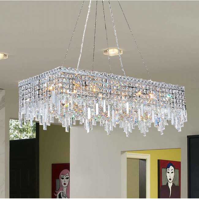 Unique clear crystal chandelier inspiration fantastic diy w83627c36 cascade 16 light chrome finish with clear crystal chandelier aloadofball Choice Image