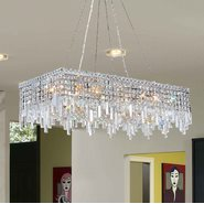W83627C36 Cascade 16 Light Chrome Finish with Clear Crystal Chandelier