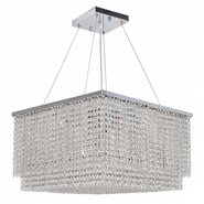 Prism Collection 12 Light Chrome Finish and Clear Crystal Chandelier