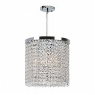 Prism 3 light Chrome Finish with Clear Crystal Pendant