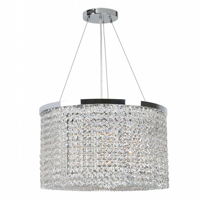 W83739C20 Prism 9 Light Chrome Finish and Clear Crystal Chandelier