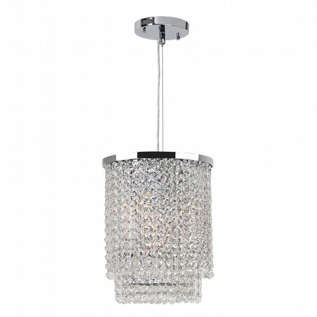 W83740C10 Prism 4 light Chrome Finish with Clear Crystal Pendant