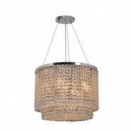 Prism Collection 9 Light Chrome Finish and Clear Crystal Chandelier