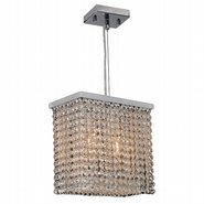 Prism Collection 2 Light Chrome Finish and Clear Crystal Mini Pendant Light