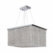 Prism Collection 5 Light Chrome Finish and Clear Crystal Chandelier