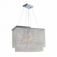 Prism 6 Light Chrome Finish with Clear Crystal Chandelier