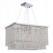 Prism 9 Light Chrome Finish with Clear Crystal Chandelier