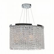 Prism Collection 4 Light Chrome Finish and Clear Crystal Chandelier