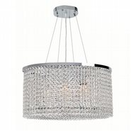 Prism 7 Light Chrome Finish with Clear Crystal Chandelier