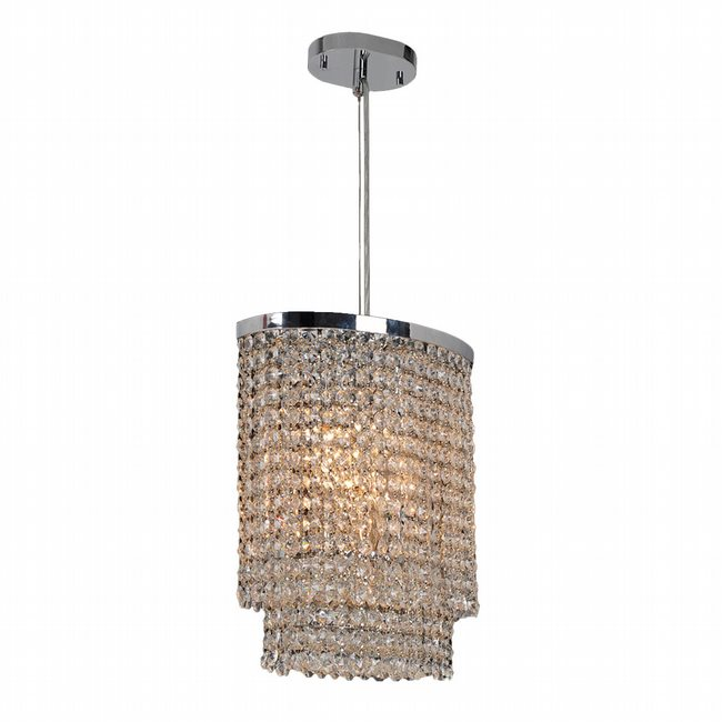W83759C10 Prism 3 light Chrome Finish with Clear Crystal Chandelier