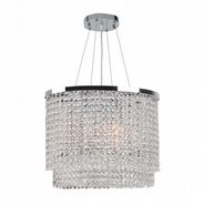Prism Collection 6 Light Chrome Finish and Clear Crystal Chandelier