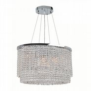 Prism Collection 8 Light Chrome Finish and Clear Crystal Chandelier