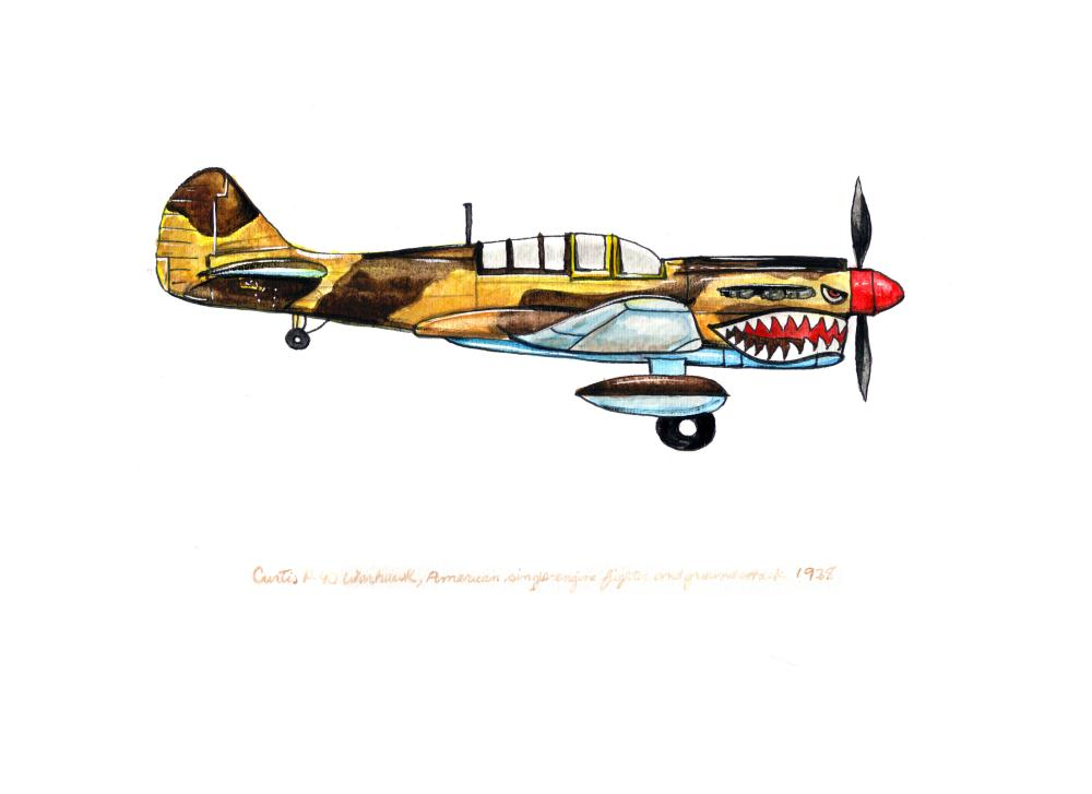 "Curtiss P-40 ""Warhaw... 