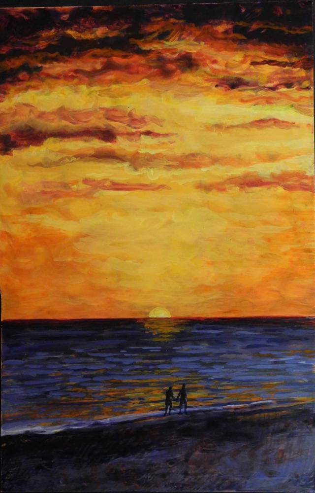Sunset-Stroll | Brenda's Artwork