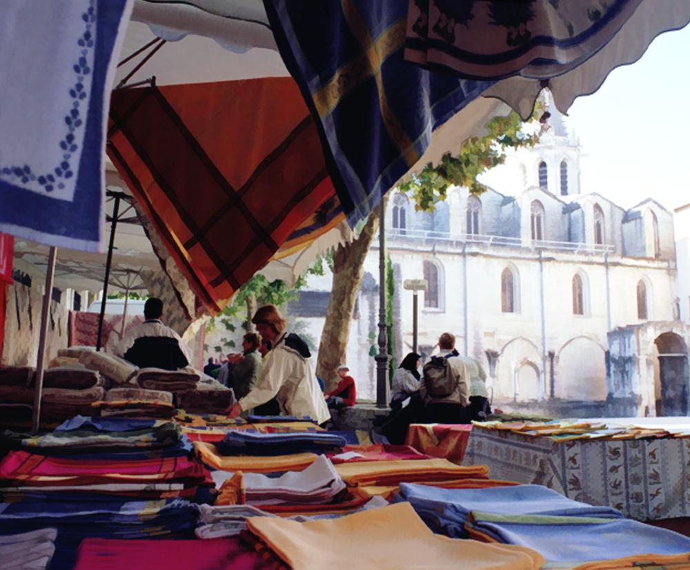 Market in Provence | Val's fine art
