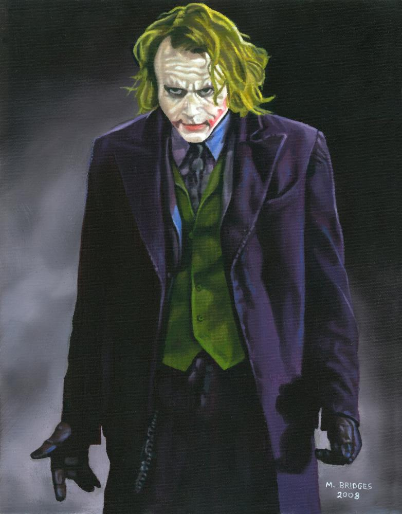 Heath Ledger Joker | Gallery of Michael Bridge...