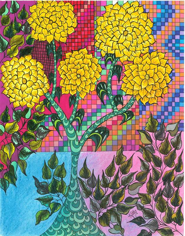 Indian Summer Flowers | kittysartfortheheart
