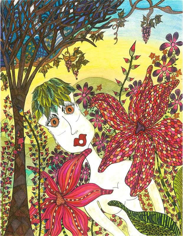 Eve In The Garden | kittysartfortheheart