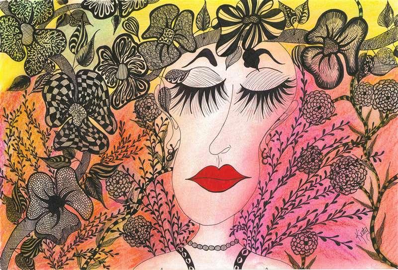 Bouquet Serendipity   kittysartfortheheart