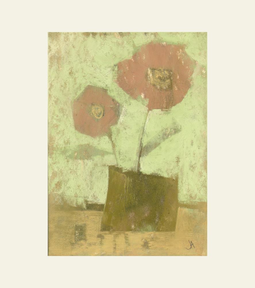 Two Pink Flowers 1 | Janine Aykens Fine Art