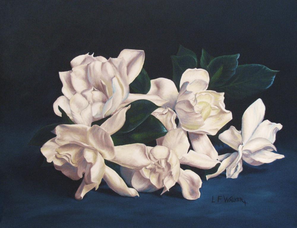 Magnolias On Blue |