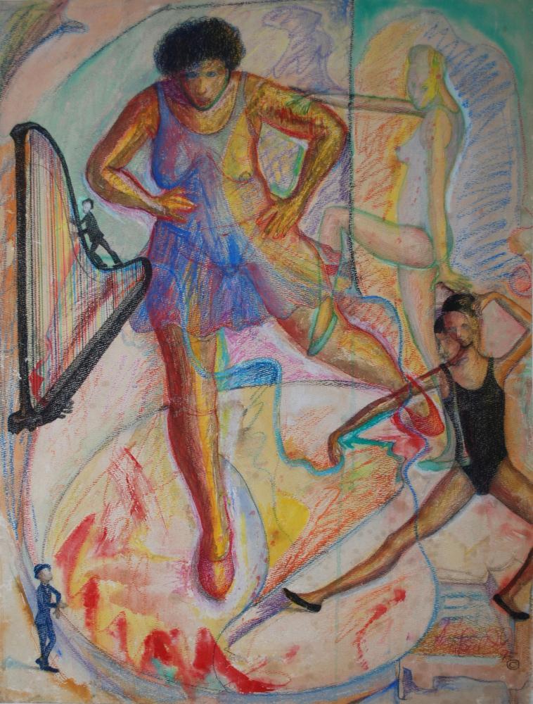 Ballerinas- | JOHNPOWELLPAINTINGS