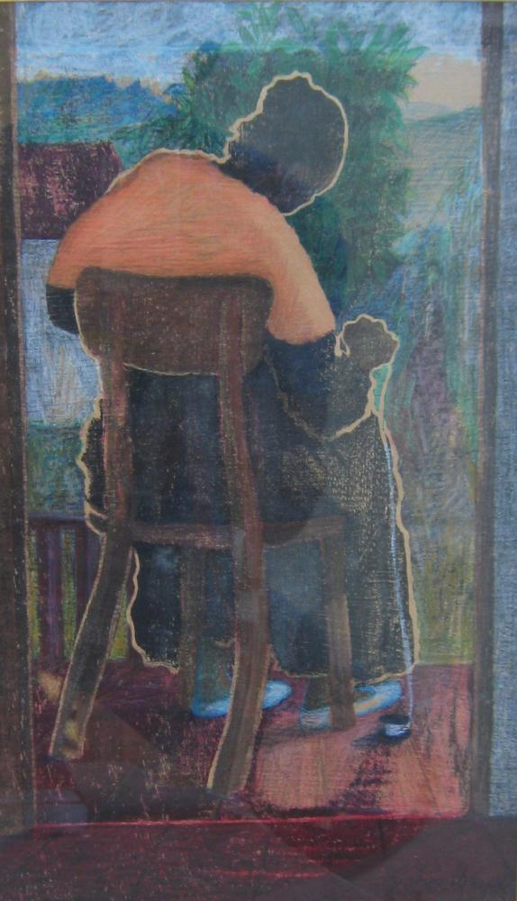 Lady Knitting | JOHNPOWELLPAINTINGS