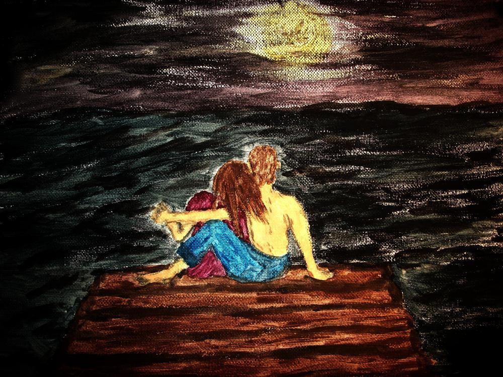 Lovers-night | Ms.Shaffer, Paintings